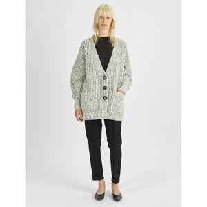 Isabel Marant Favian Alpaca Grandpa Oversized Cozy Chunky Knit Cardigan